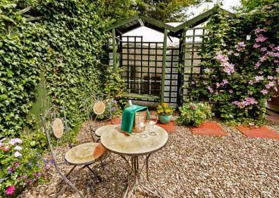 Enjoy a drink in our quiet garden