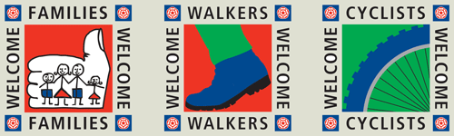 Families Welcome, Walkers Welcome, Cyclists Welcome